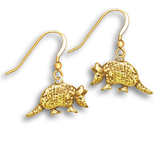 14k Solid Gold Armadillo Earrings