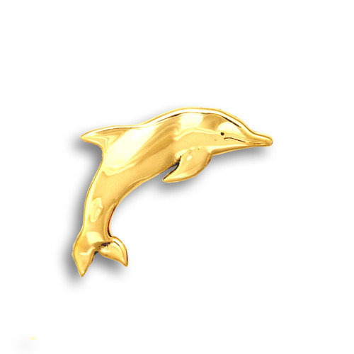 14k Solid Gold Dolphin Pin