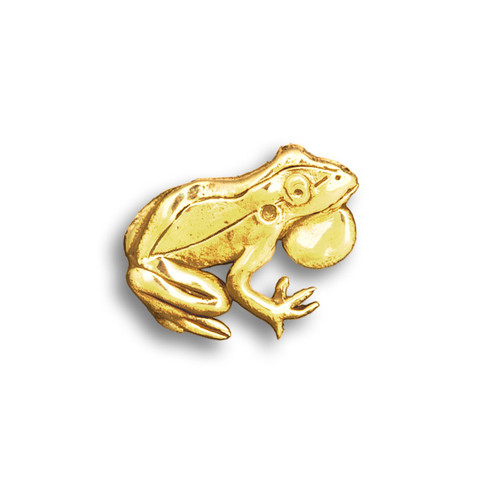 14k Solid Gold Frog Pin