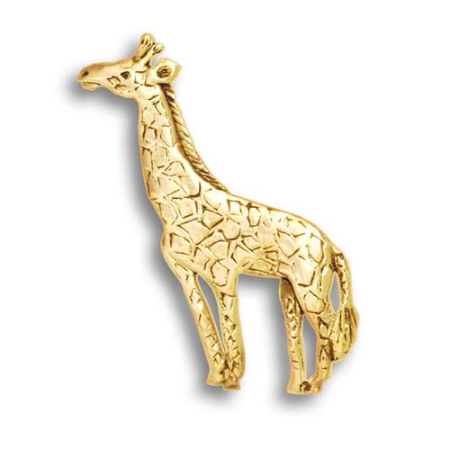 14k Solid Gold Giraffe Pin