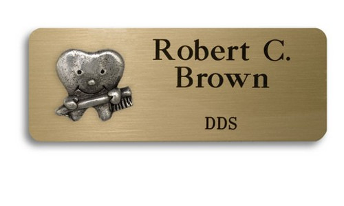 Smiling Tooth Name Badge
