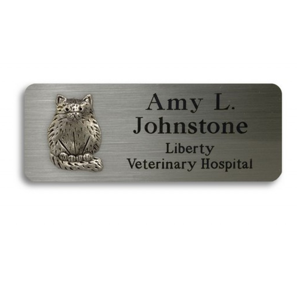 Name Tags With 1 Pewter Animal