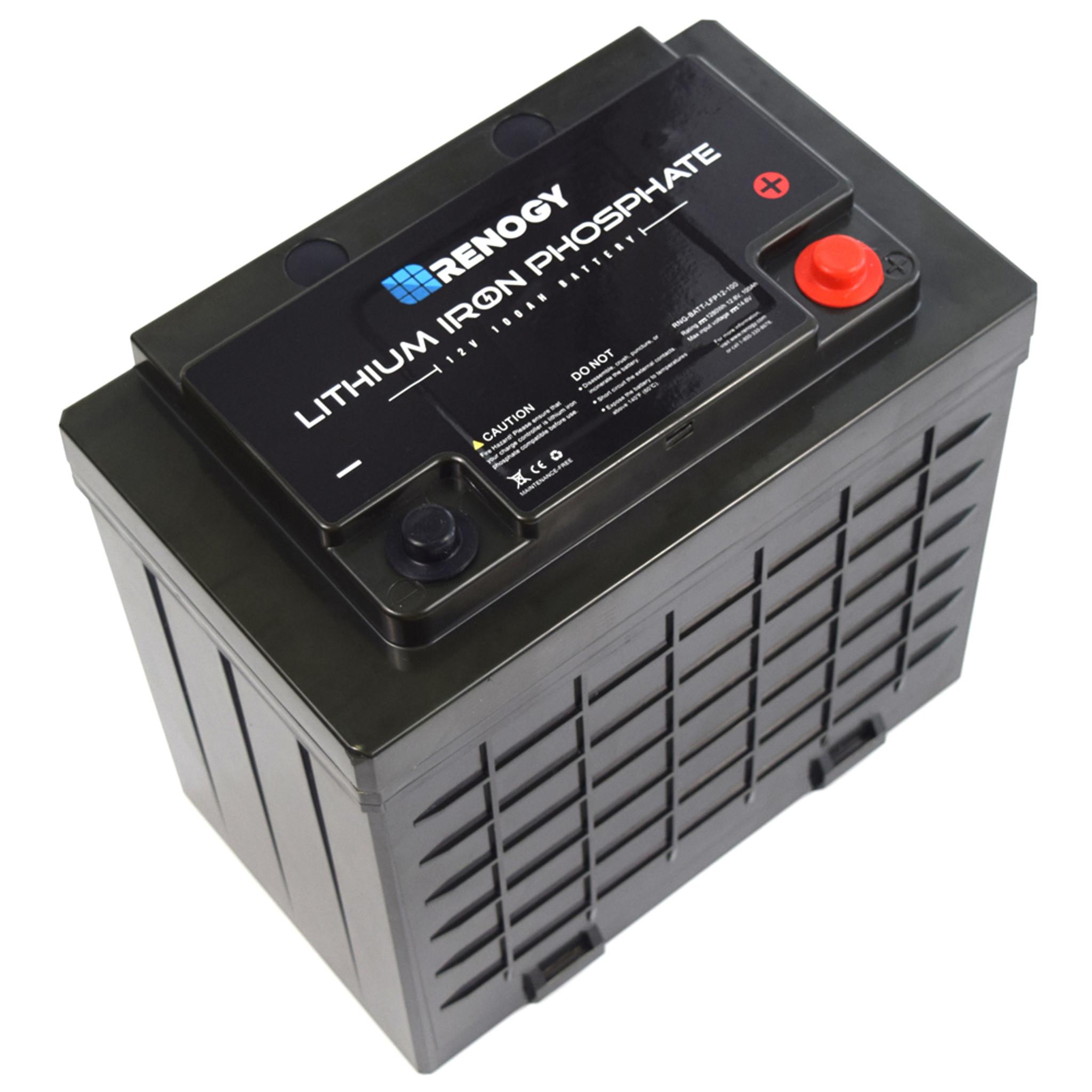 Renogy Lithium-Iron Phosphate Battery 12 Volt 100Ah
