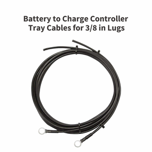 Battery to Charge Controller Tray Cables for 3/8 in Lugs