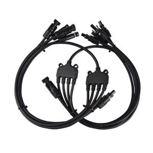 4 to 1 Solar Branch Connectors MMMMF+FFFFM Pair