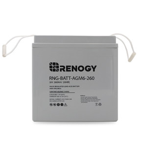 Renogy Deep Cycle AGM Battery 6 Volt 260Ah