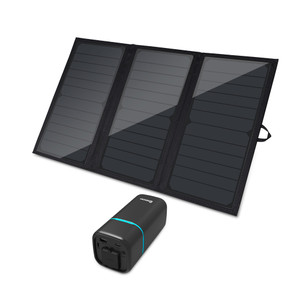100W PHOENIX Mini Power Station W/ 21W E.FLEX Portable Solar Panel