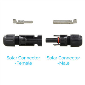 Solar Connectors for Solar Panels 5 Pairs Male & Female