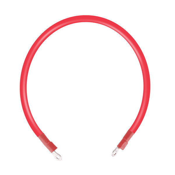 2ft ANL Fuse Cable with Double Ring Terminals for 3/8 in Lugs