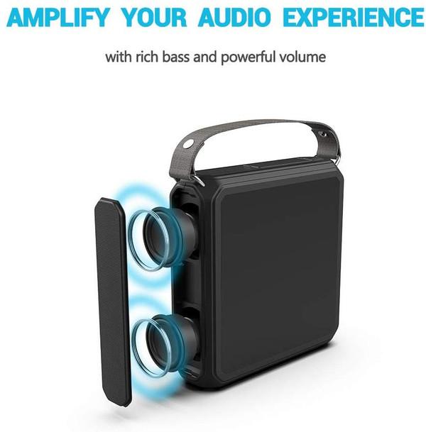 E.TUNES Solar Bluetooth Speaker