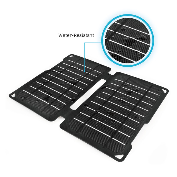 Water resistant Renogy E.FLEX10 Monocrystalline Portable Solar Panel with USB Port