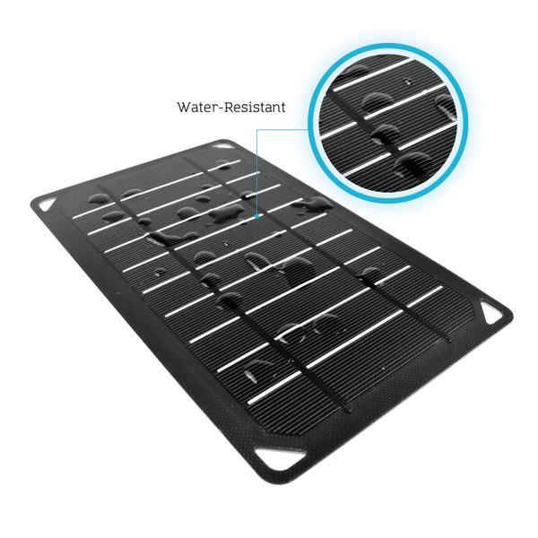 water resistant Renogy E.FLEX5 Monocrystalline Portable Solar Panel with USB Port