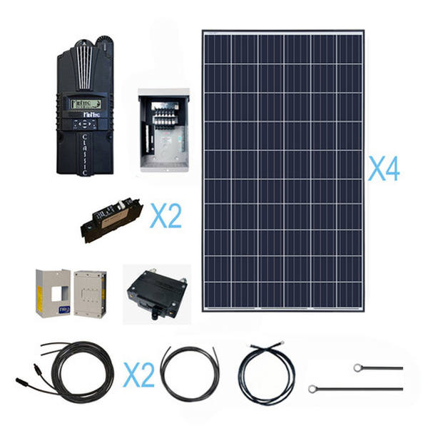 Renogy 1000 Watt 12 Volt Polycrystalline Solar Cabin Kit