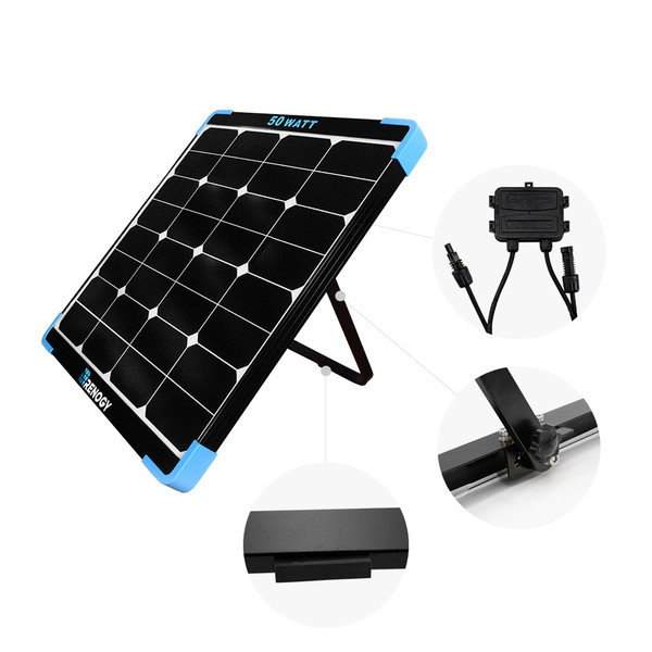 Renogy 50W Mini Eclipse Monocrystalline Solar Panel