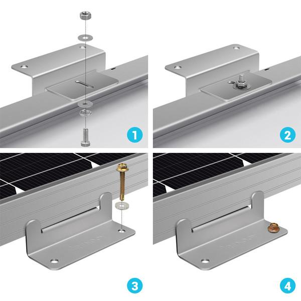 Renogy Solar Panel Mounting Z Bracket