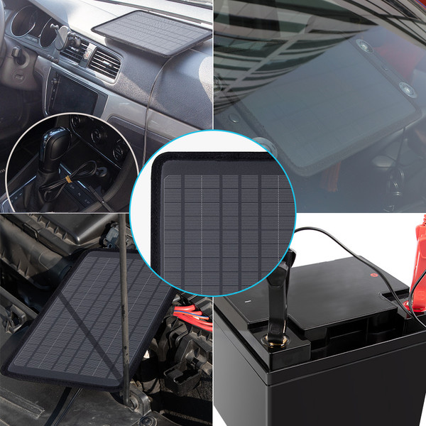 5W Solar Battery Trickle Charger Maintainer