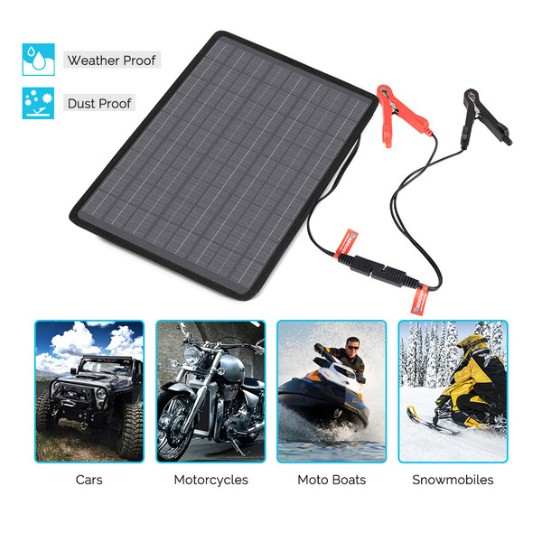 Renogy 10W Solar Battery Maintainer Charger