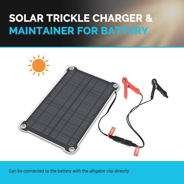 Renogy 8W Solar Battery Maintainer Charger