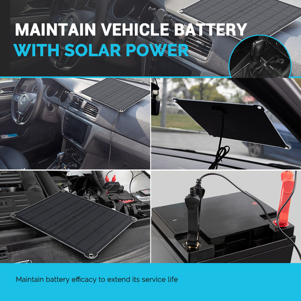 Renogy 16W Solar Battery Maintainer Charger