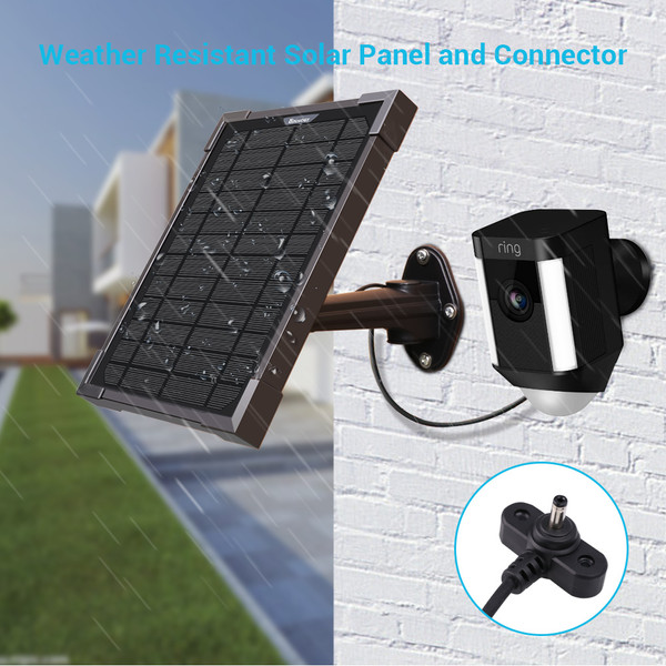 5 Watt Solar Panel Charger for Ring Camera