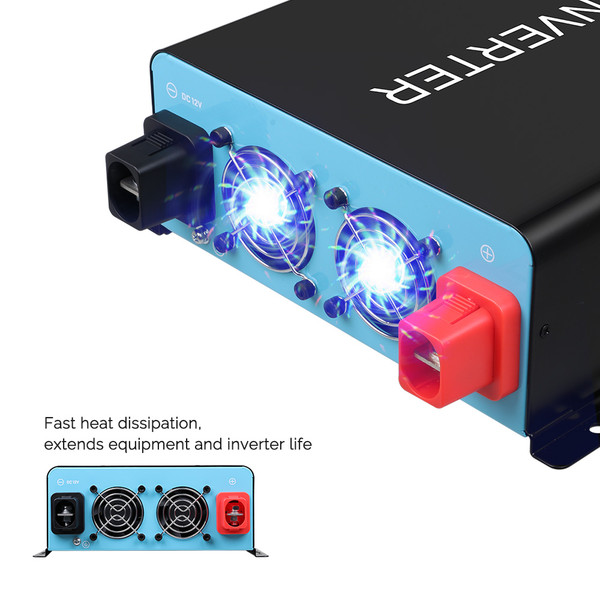 2000W 12V Pure Sine Wave Inverter (New Edition)