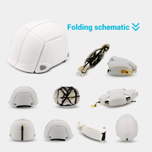 Foldable Bike Helmet Adjustable 500g Portable Safety Helmet