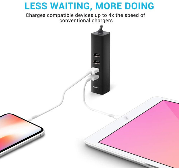 60W 6-Port Quick Car USB Charger