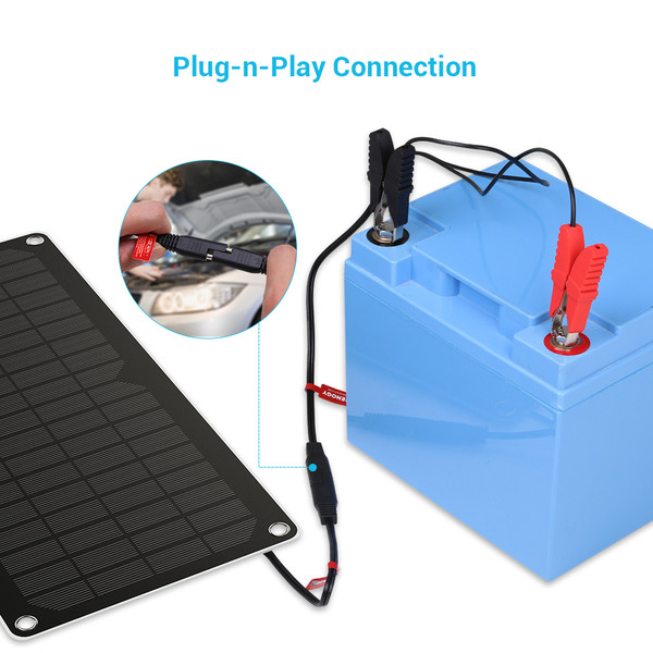 Renogy 10W Solar Battery Charger Maintainer