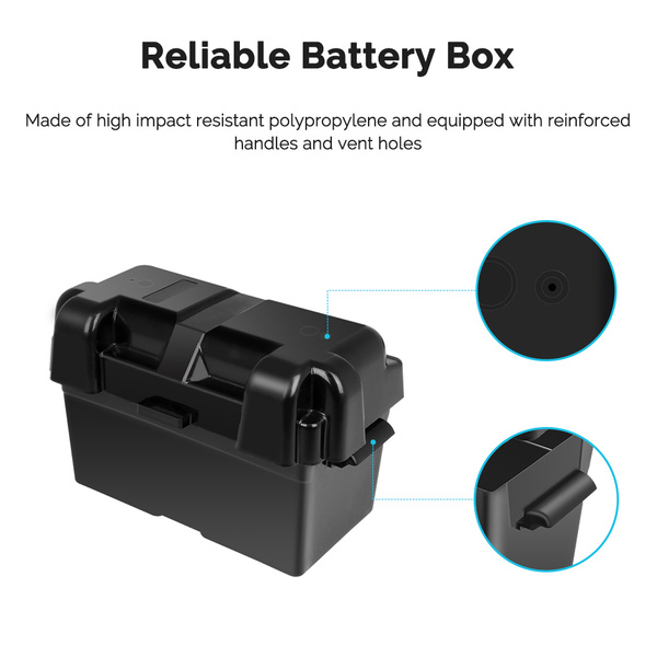 12V 100Ah Deep Cycle Hybrid GEL Battery w/ Battery Box