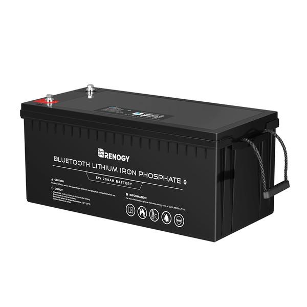 12V 200Ah Lithium Iron Phosphate Battery w/ Bluetooth