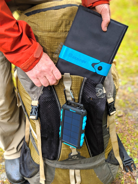 Backpacking with Solar:  Portable Power Banks & Panels