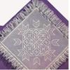 Square Ruffled Doily Pattern in Filet Crochet