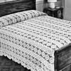 Cluny Wheel Filet Crochet Bedspread Scarf Pattern
