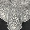 Iris Shadow Filet Crocheted Tablecloth Pattern