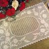 Embossed Daisy Filet Crochet Place Mats Pattern