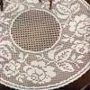 Round Rose Bordered Filet Crochet Doily Pattern