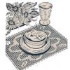 Workbasket Flower Filet Crochet Place Mat Pattern
