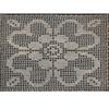 Filet Crocheted Flower Mat