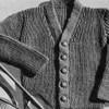 Knitting Pattern Baby Ribbed Cardigan