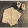 Vintage Baby Shrug and Booties Knitting Pattern