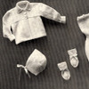 Jacket Knit Set for Baby with Leggings