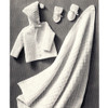 Vintage Knitted Baby Layette Pattern with Blanket