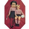 Childs Stripped Dress Pullover Knitting Pattern Set