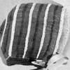 Vintage 1950s Hairpin Lace Baby Bonnet