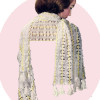 Long Hairpin Lace Stole Pattern