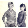 Children Striped Pullover Knitting Pattern
