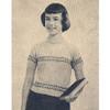Girls Knitted Short Sleeve Pullover Pattern