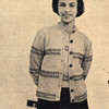 Knitting Pattern for Girls Twin Set, Vintage 1950s