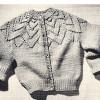 Vintage Coats Girls Petal Cardigan Knitting Pattern