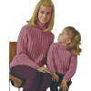 Knitted Pink Cardigan Patterns for Mother Daughter